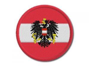 Nášivka Rakouská vlajka kulatá
