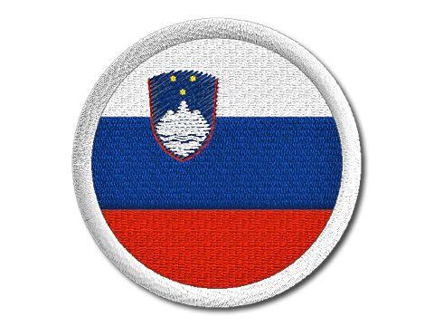 Nášivka Slovinská vlajka kulatá