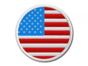 Nášivka Vlajka USA kulatá