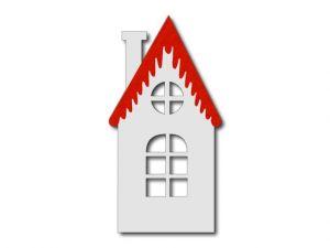 bílý s červenou střechou