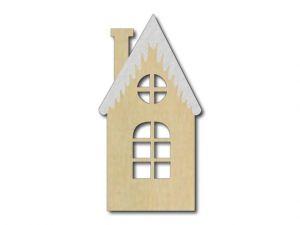domeček přírodní s bílou střechoui