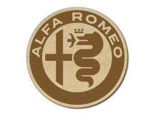 Podtácek Alfa Romeo dřevěný