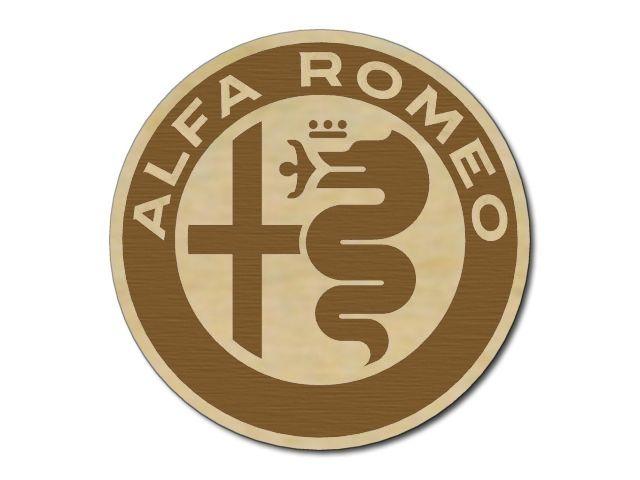 dřevěný podtácek Alfa Romeo