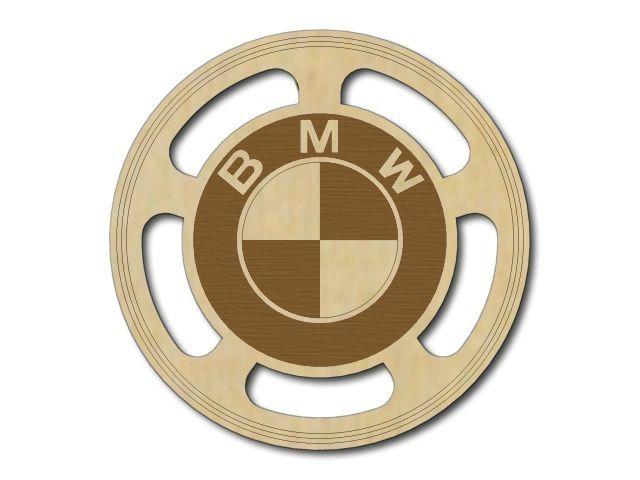 Dřevěný podtácek BMW