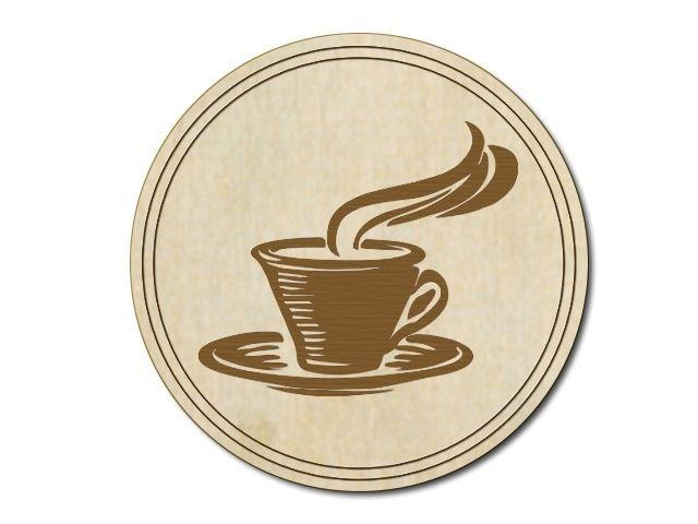 dřevěný tácek kafe