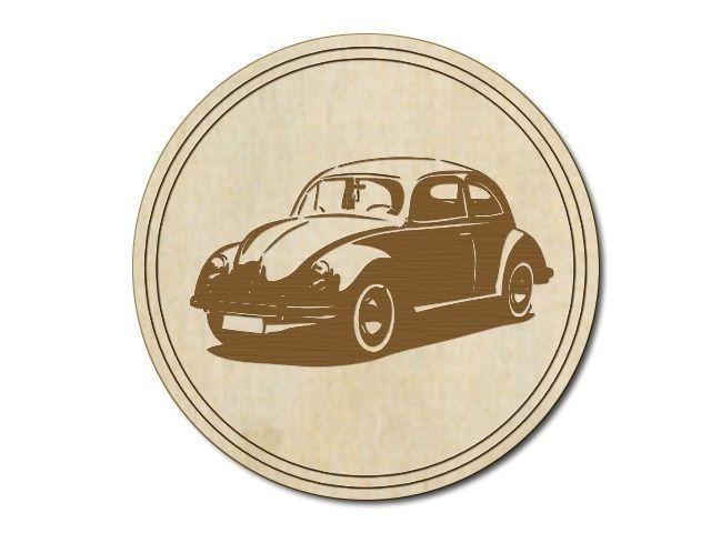 Dřevěný tácek VW Brouk