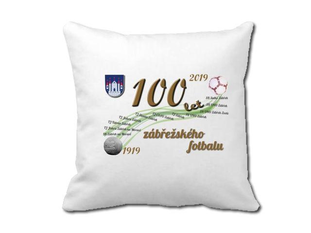 polštář 100 let zábřežské kopané