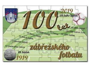 Puzzle A4 100 let fotbalu