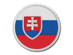 Nášivka Slovenská vlajka kulatá