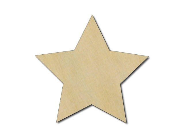 výřez hvězdy z překližky