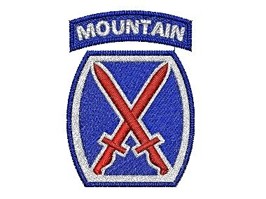 Nášivka 10th Mountain Division SSI