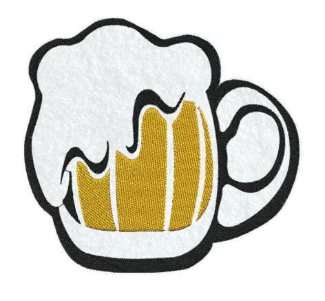 Vyšívaný tácek pod nápoje Pivo