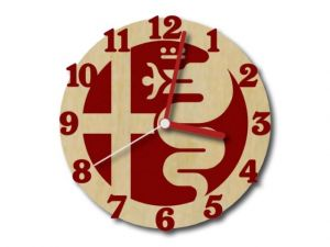 hodiny Alfa Romeo červené s červenými ručičkami