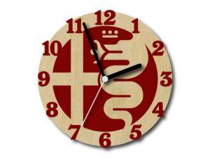 hodiny Alfa Romeo červené s čerými ručičkami