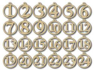 Adventní čísla  dřevěná