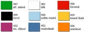 barevnice 3 mm filce