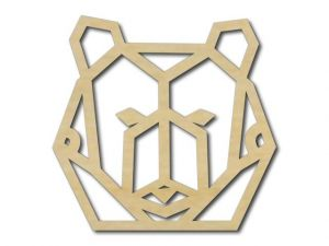 Geometrický obrázek Medvěd 2
