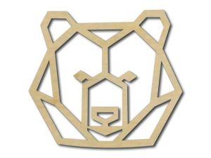 Geometrický obrázek Medvěd