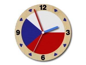 dřevěné hodiny česko verze B