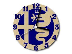 hodiny Alfa Romeo modré s černými ručičkami