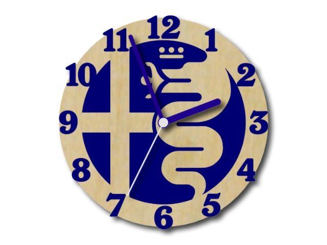 hodiny Alfa Romeo modré s modrými ručičkami
