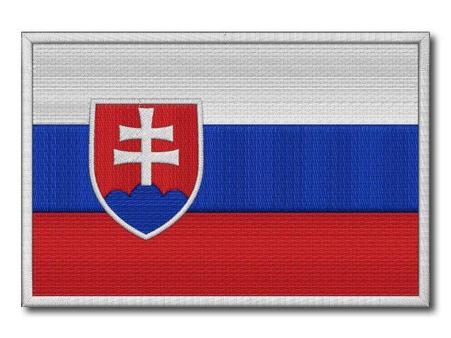 MAXI vyšívaná Slovenská vlaječka