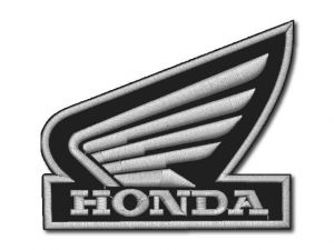 Nášivka Honda křídlo silver