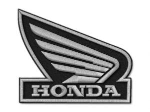 Nášivka Honda křídlo zrc. silver