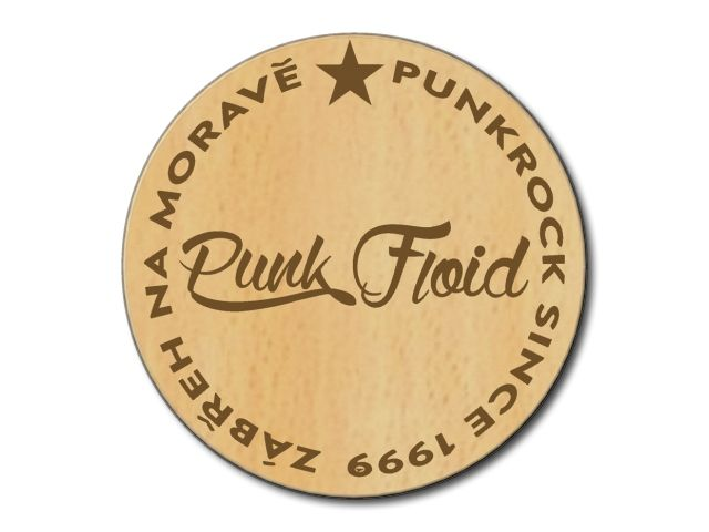 podtácek Punk Floid s bukovou lazurou