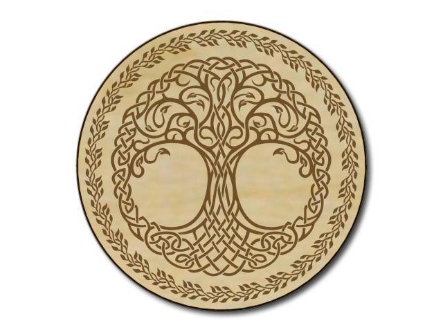dřevěný gravírovaný tácek