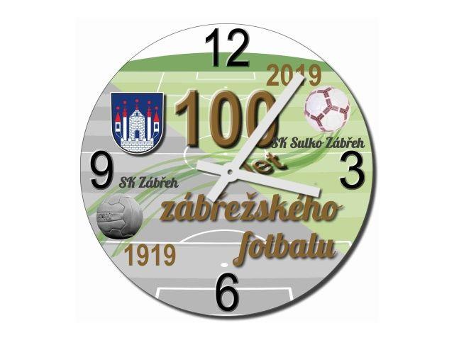 skleněné hodiny 100 let zábřežského fotbalu
