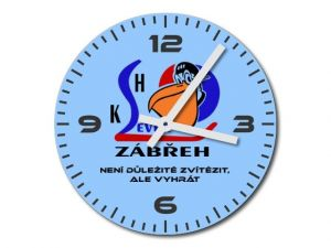 Skleněné hodiny KSH Zábřeh