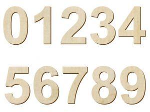 Číslice - sada (10 cm) dřevěná