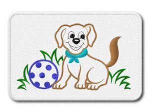 Nášivka Pes s míčem