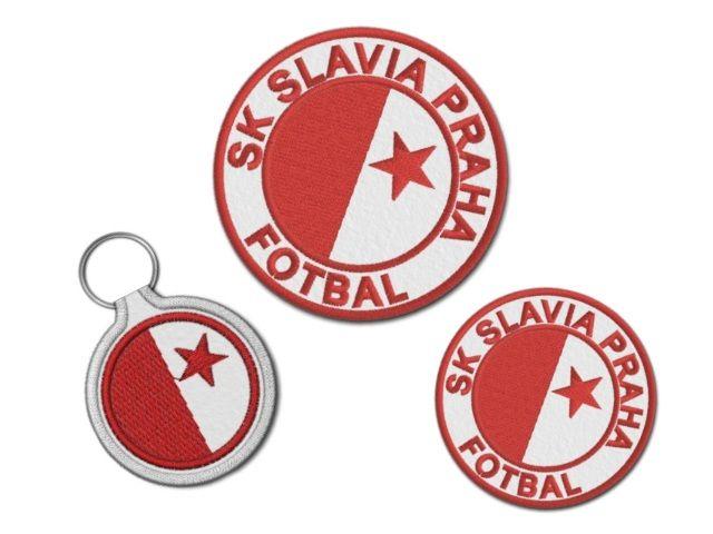 sada nášivek Slavia s klíčenkou