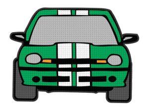 nažehlovačka auta zelená