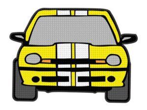 nažehlovačka auta žlutá