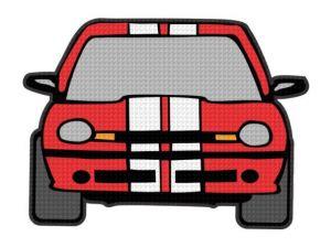 nažehlovačka auta červená