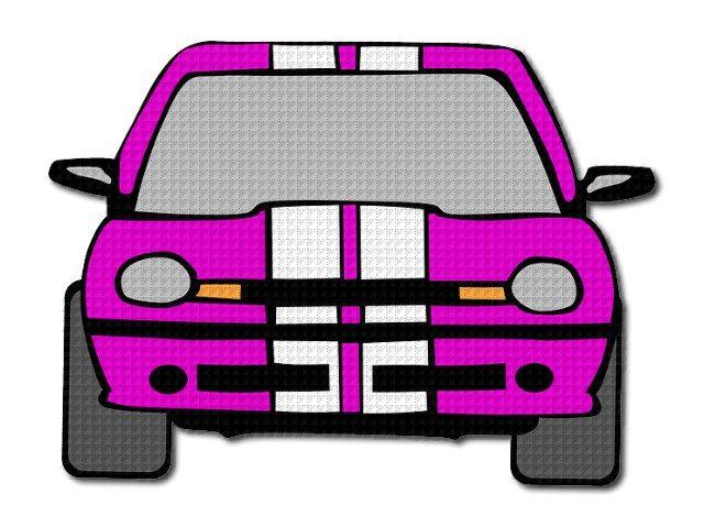 nažehlovačka auta fialová