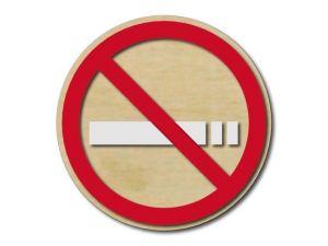 Piktogram zákaz kouření dřevěný