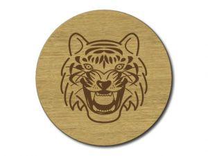 Dřevěný podtácek Tygr s lazurou
