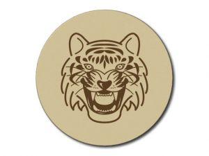 Dřevěný podtácek Tygr bez lazury