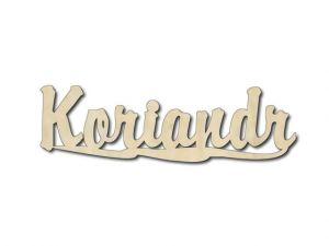 Dřevěná dekorace Koriandr