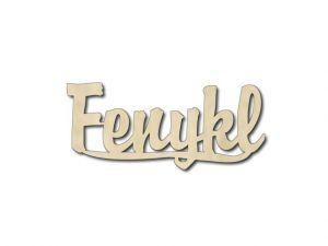 Dřevěná dekorace Fenykl