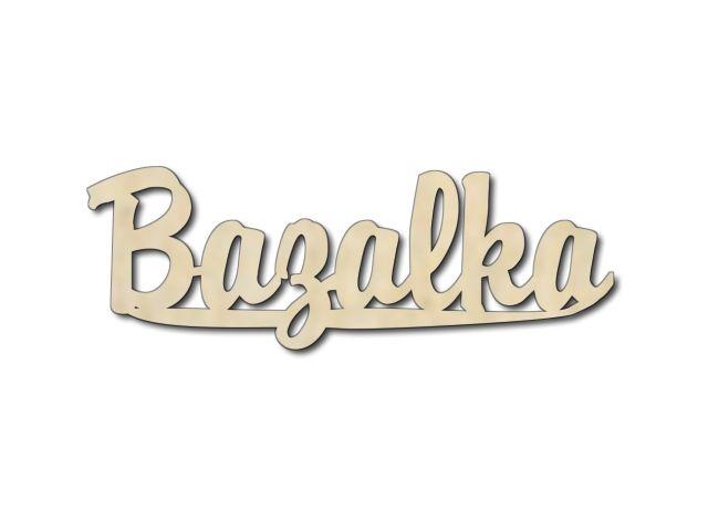 Dřevěná dekorace Bazalka
