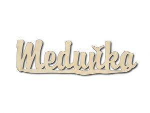 Dřevěná dekorace Meduňka