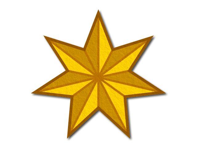 filcová hvězda tištěná