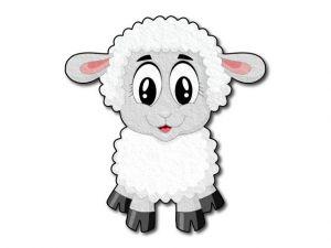 Filcová ovečka tištěná