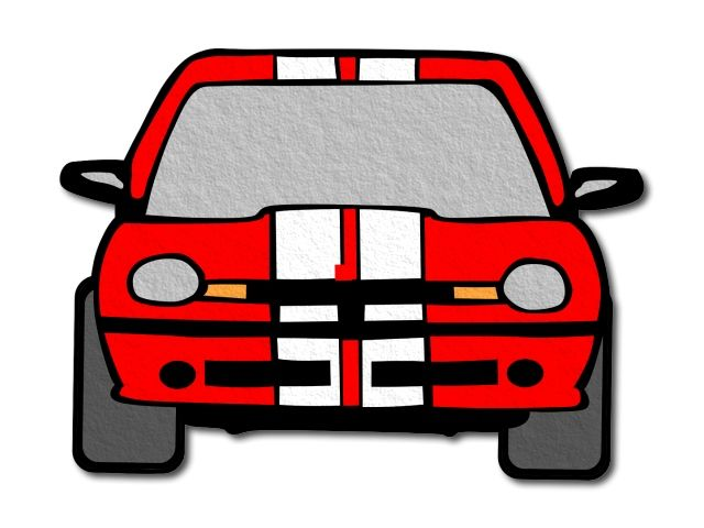 filcové auto červené