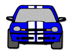 filcové auto modré